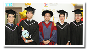 Student Group Photo with Teacher on Graduation Ceremony